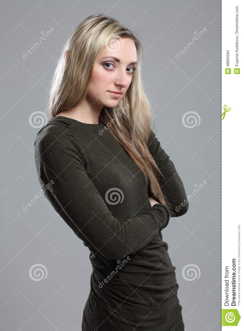 Beautiful Sensuality Teen Girl With Long Hair: Young Sensuality Beautiful Woman Portrait Stock Image