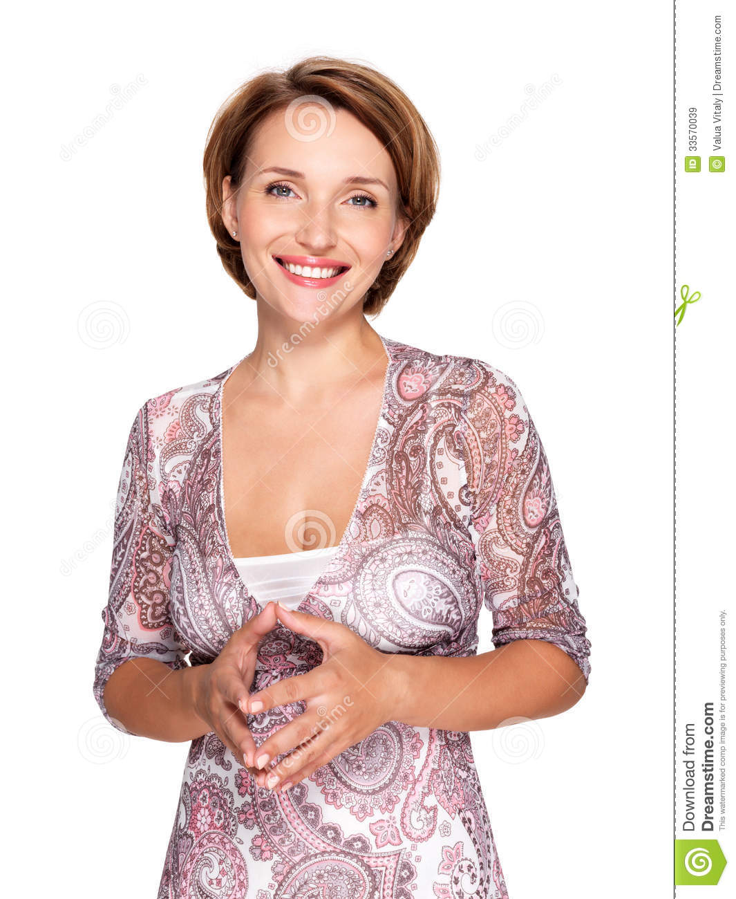 Portrait of a beautiful young adult white happy woman