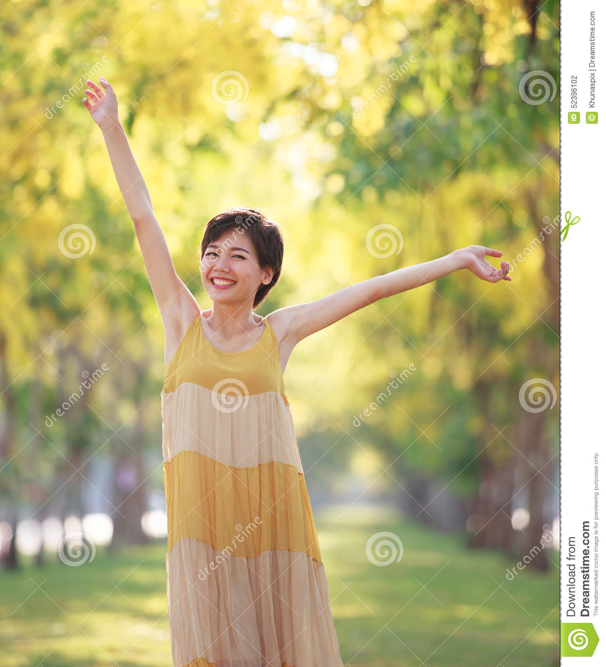 Portrait Of Beautiful Young Asian Woman Feeling Free With -6963
