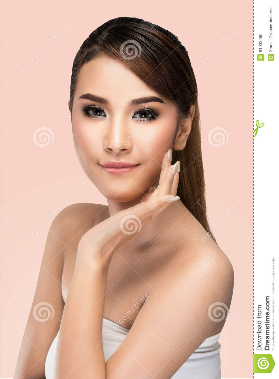 Portrait Of Beautiful Young Asian Woman Looking At Camera