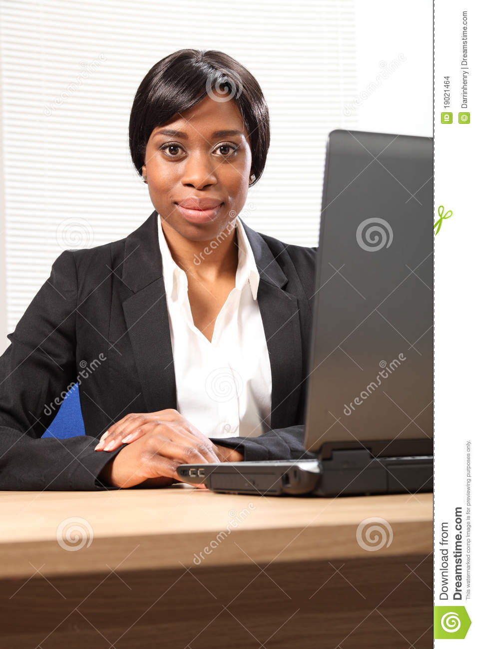 Portrait of beautiful young black business woman
