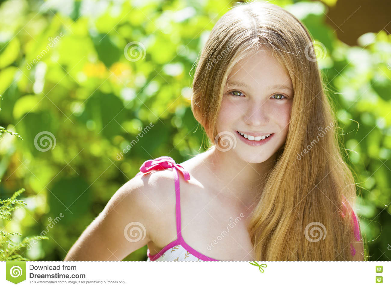 Portrait of a beautiful young blonde little girl