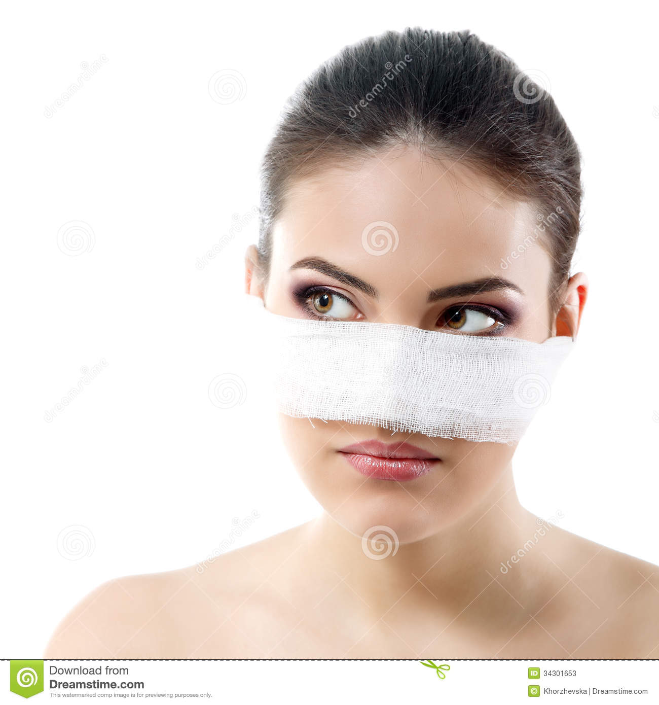 how to bandage nose cut