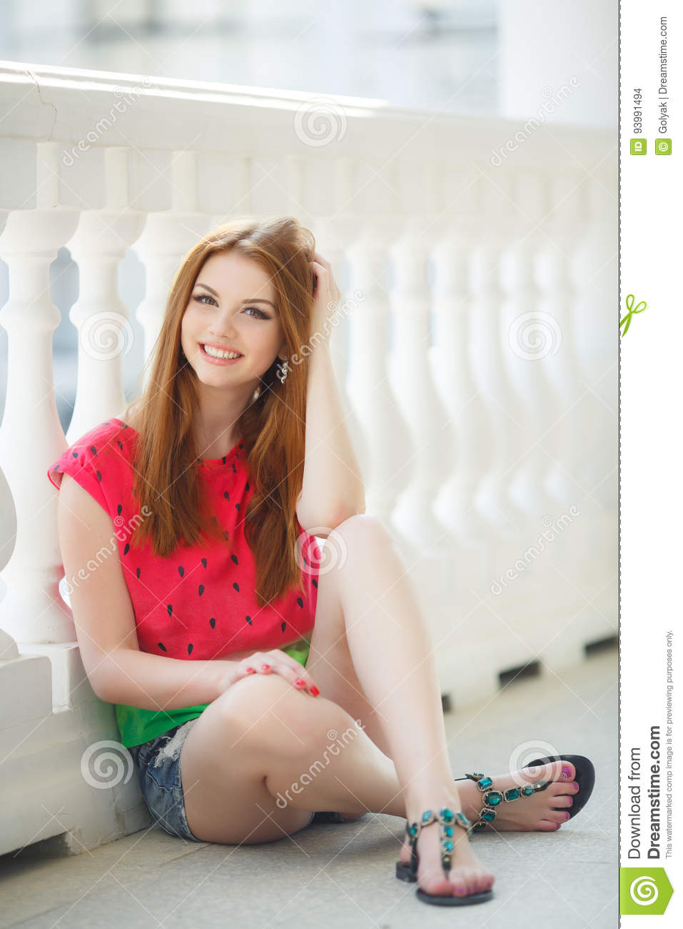 young girl with red hair stock photo image of forest portrait of beautiful young girl with gorgeous red hair