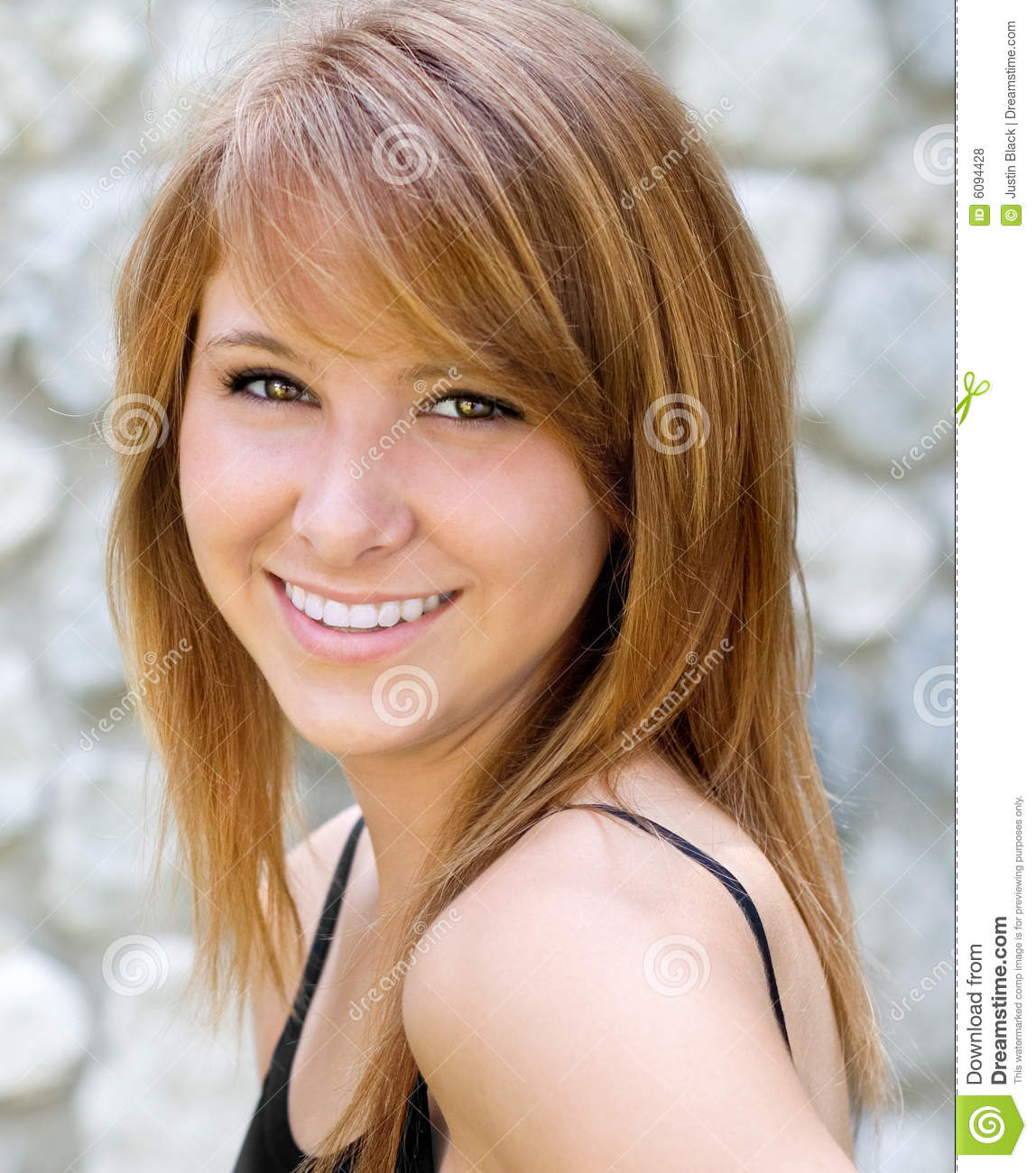 Beautiful Smiling Young Woman Stock Photo - Image of teeth