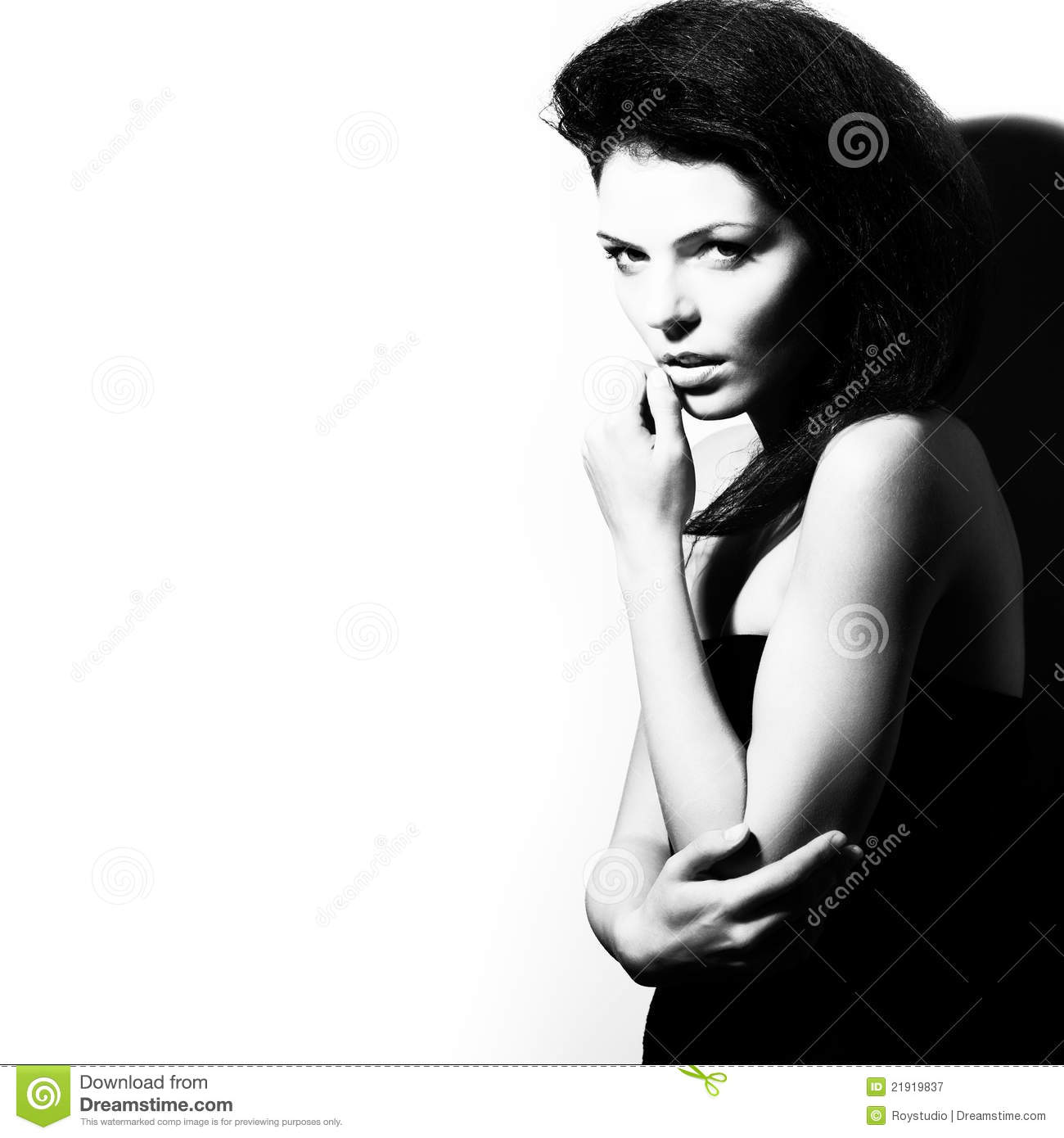 Portrait Of Beauty And Fashion Female Model Royalty Free ...