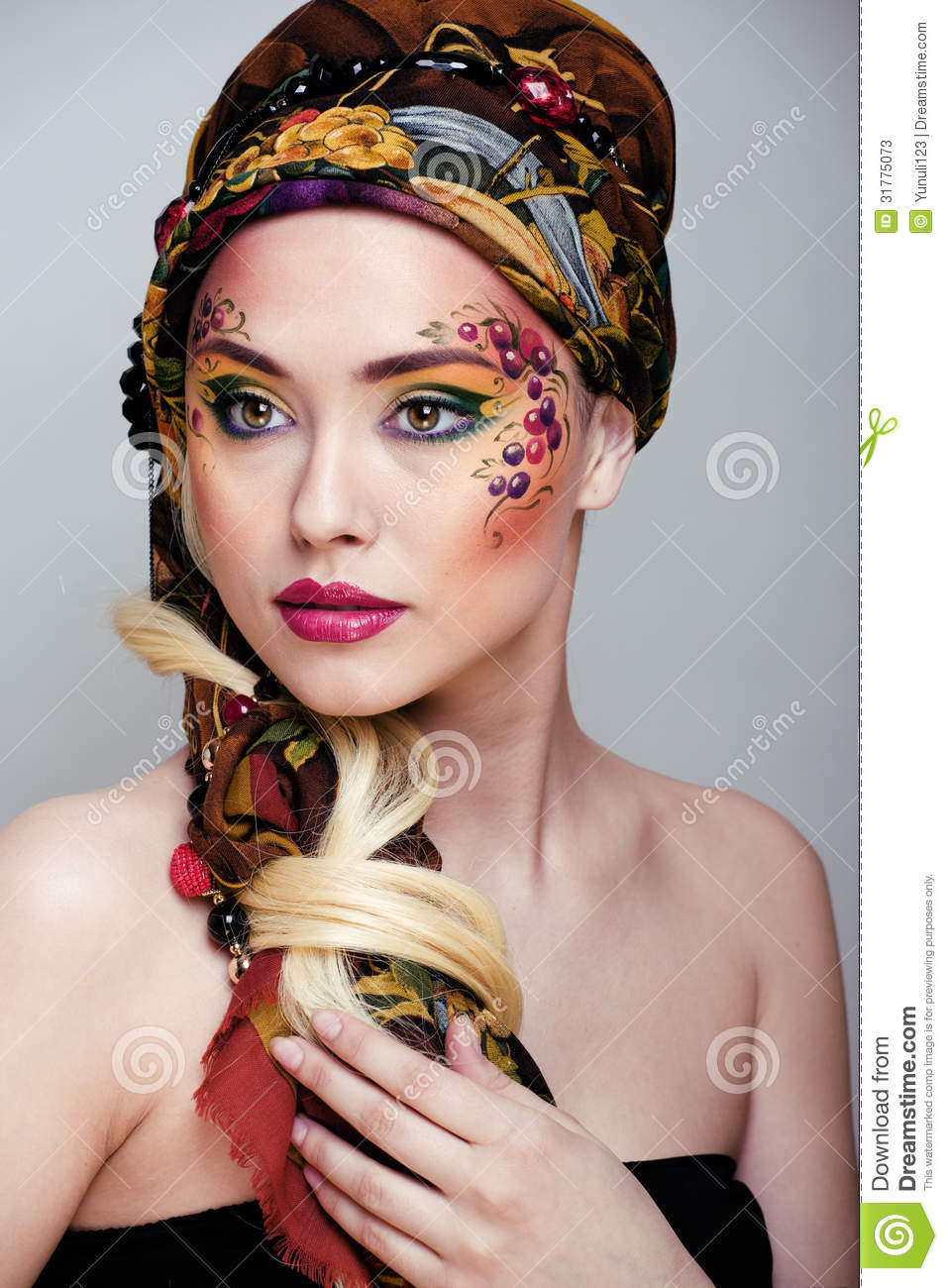 Portrait Of Beauty Woman With Face Art Stock Photos - Image: 31775073