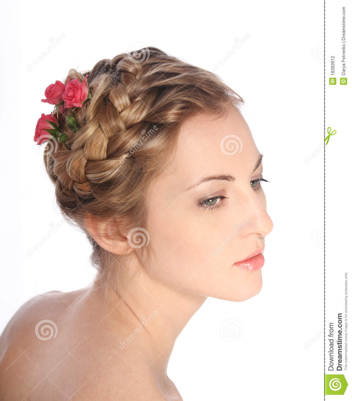 Portrait of the beauty young blond girl