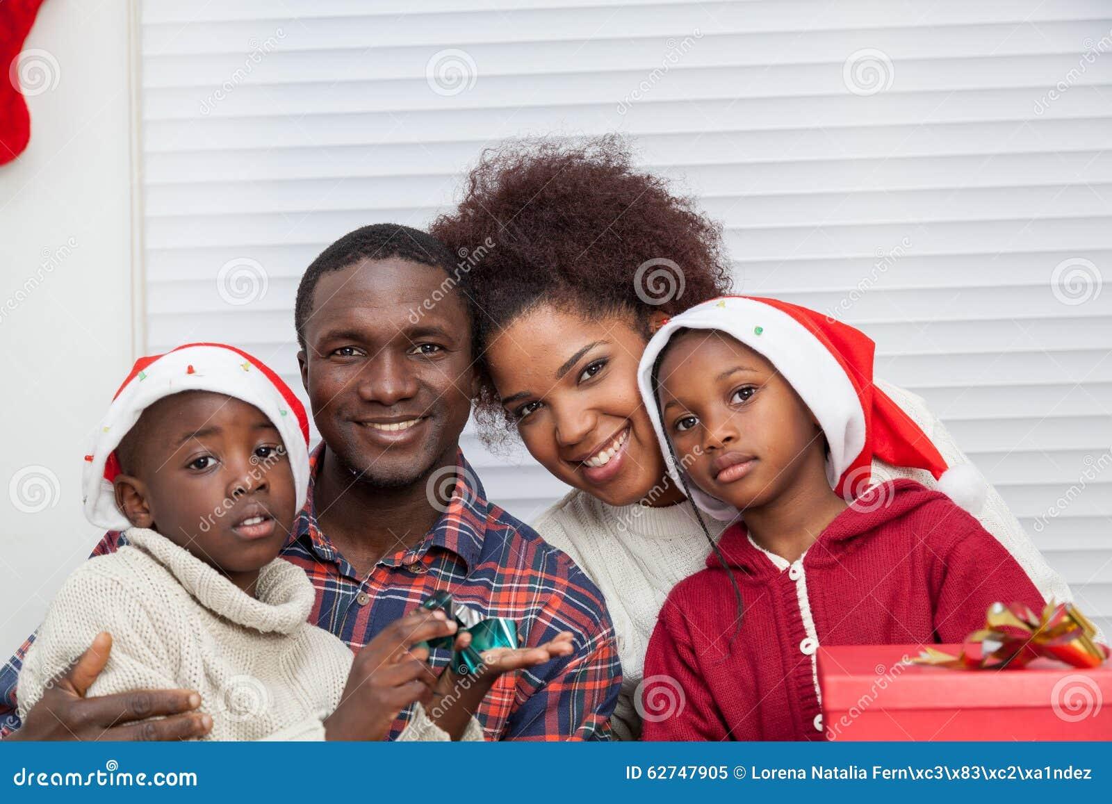 Portrait of black family