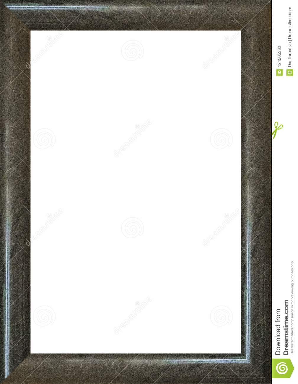 Portrait Blank Frame With Dark Marble Borders Stock Photo - Image of ...