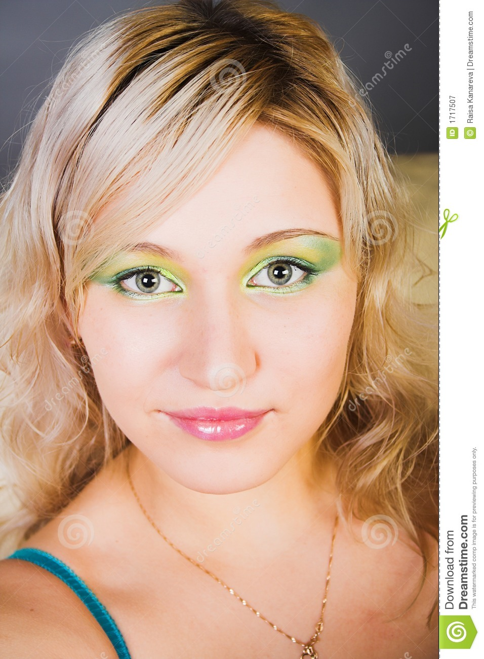 Portrait Of The Blonde With Green Eyes Royalty Free Stock