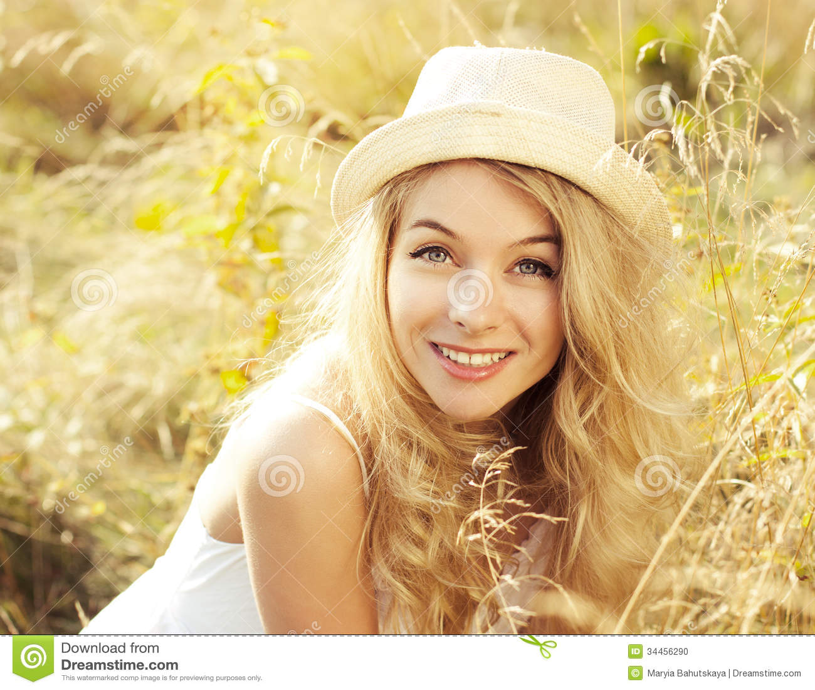 Portrait Of Blonde Wom...