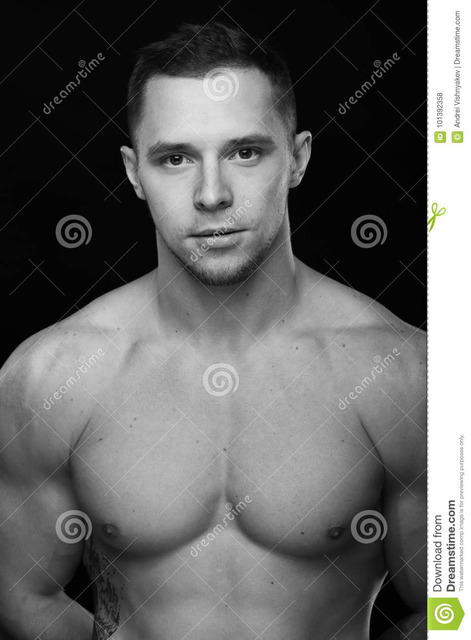 Young bodybuilder man stock image. Image of active