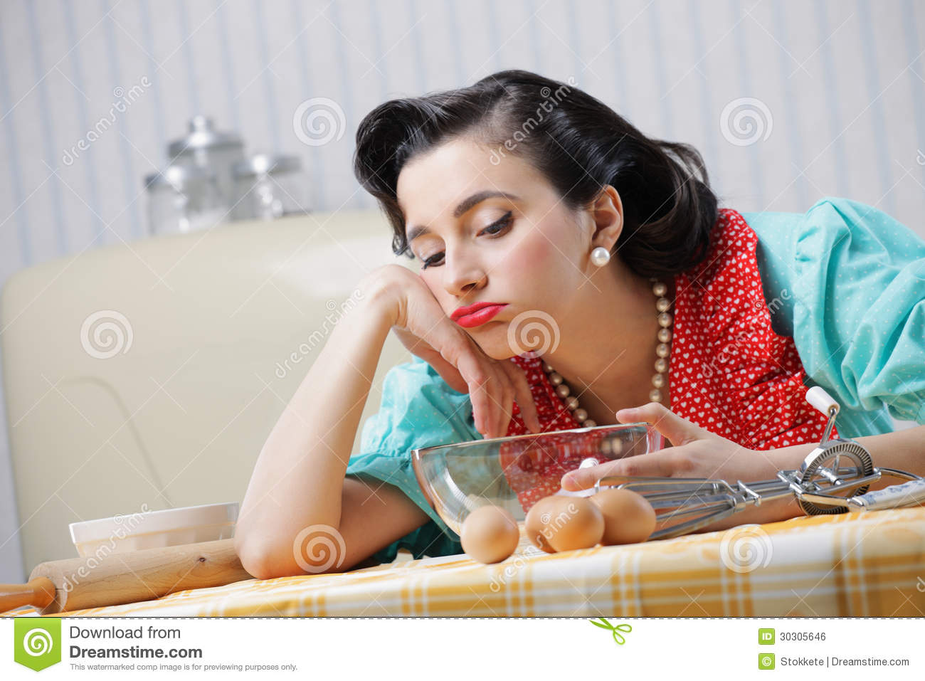 Bored Housewife Royalty Free Stock Image - Image: 30305646