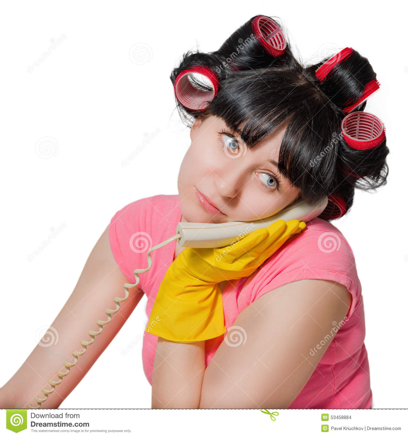 Portrait Of A Bored Housewife. Stock Photo - Image: 53458884