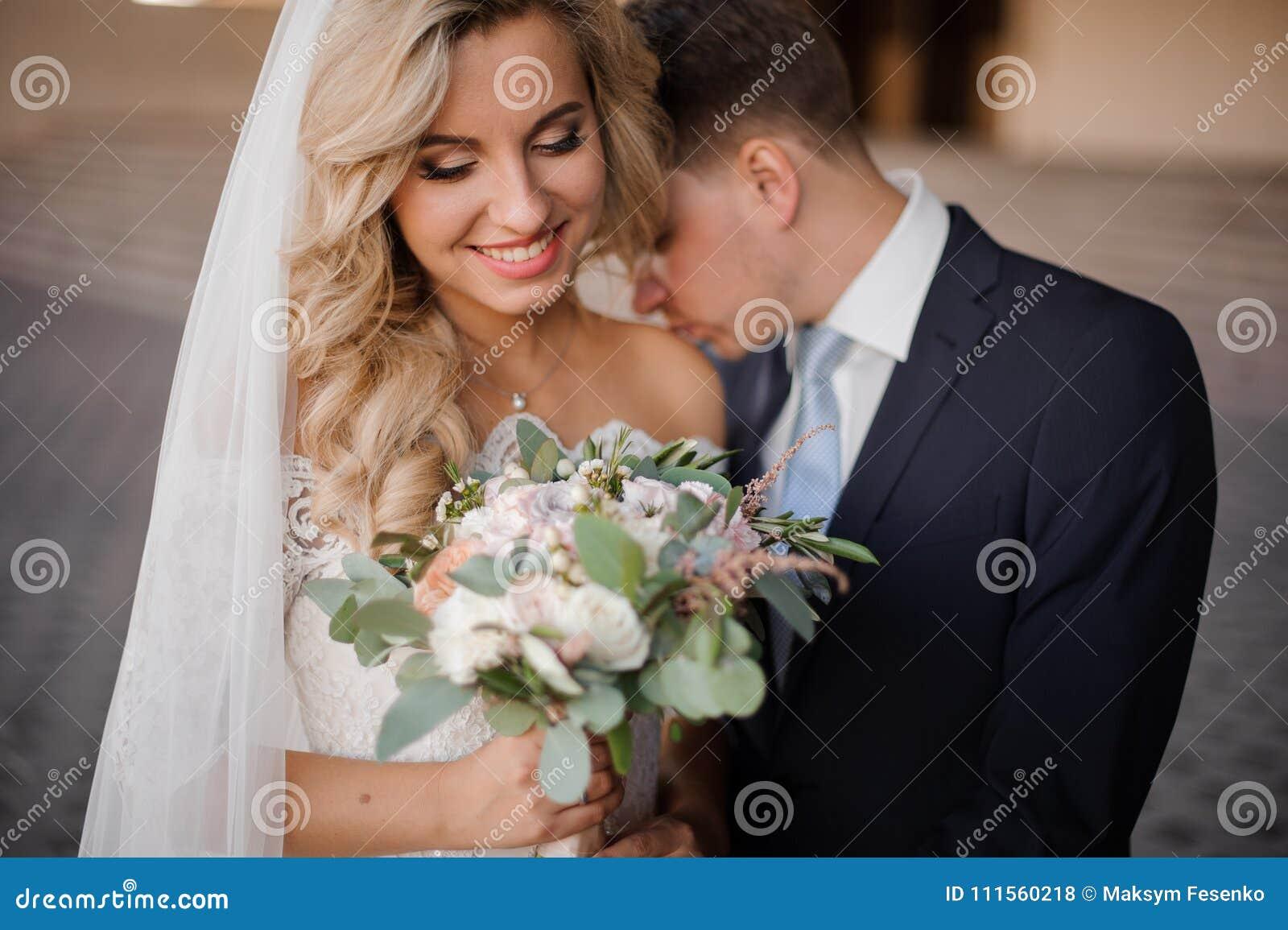 Models blonde kissing female