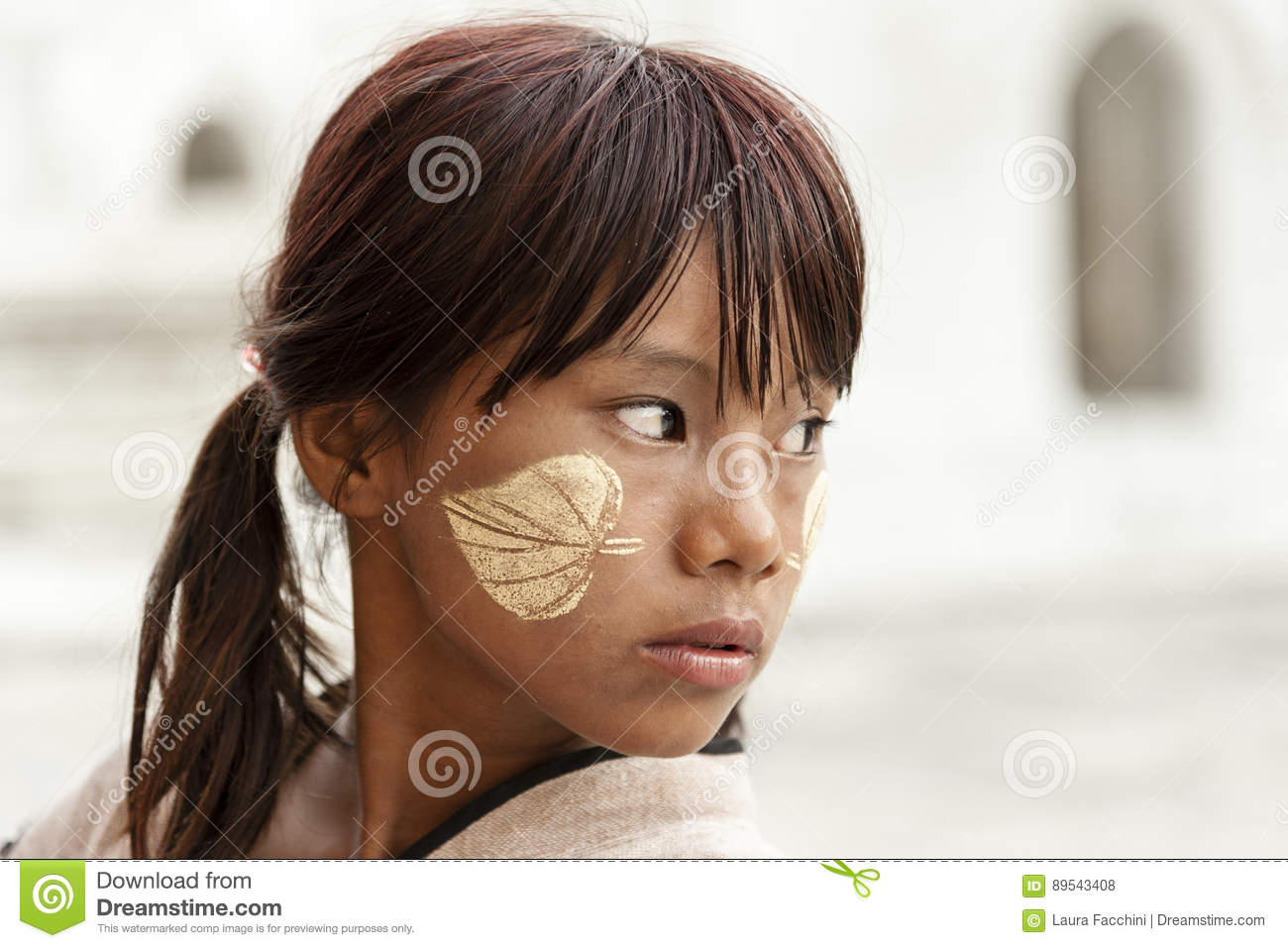 Portrait of Burmese girl