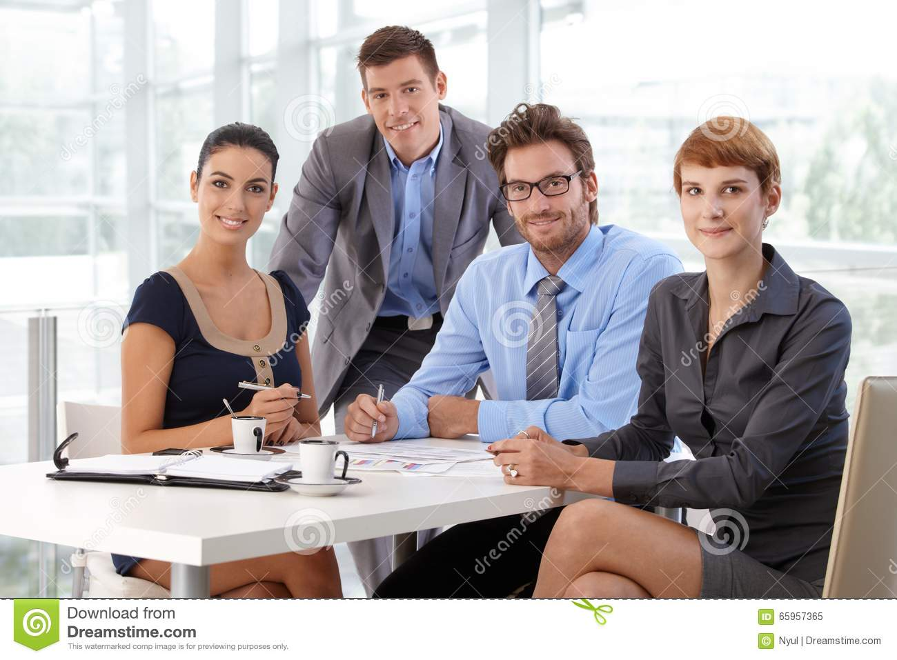 Portrait of business team at corporate office