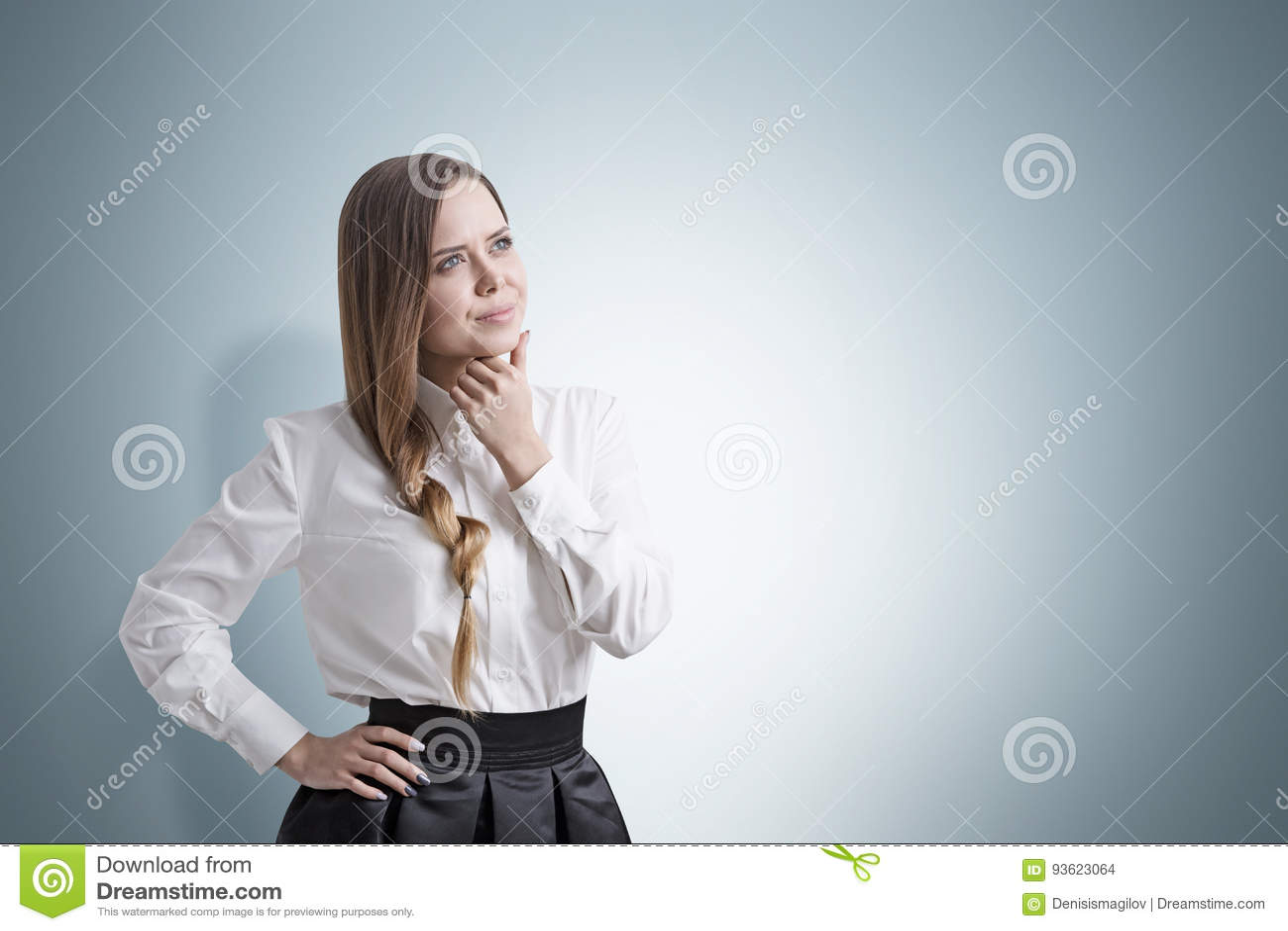 Portrait of businesswoman with a braid