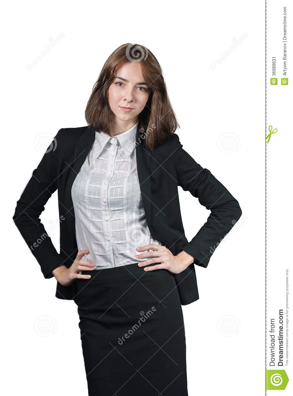 Portrait of businesswoman isolated on white