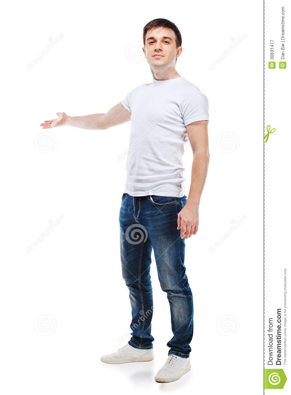portrait of casual young attractive man royalty free stock