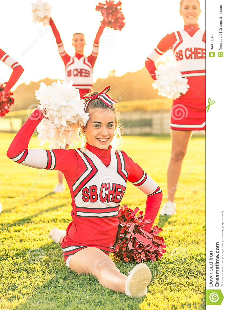 Portrait Of A Cheerleader In Action Royalty Free Stock Photo - Image ...