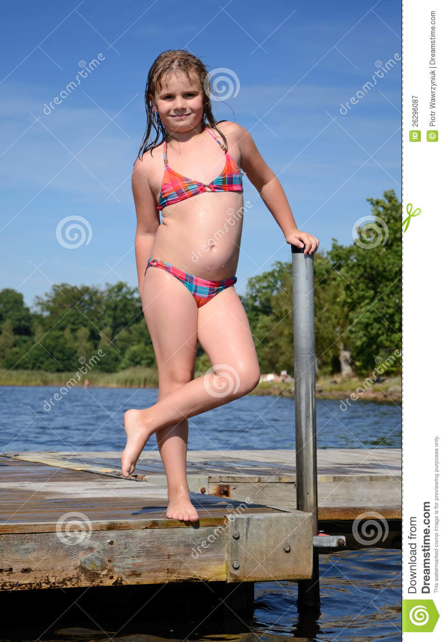 portrait of child girl on a bridge royalty free stock free swimming clipart printable free swimming clipart black and white
