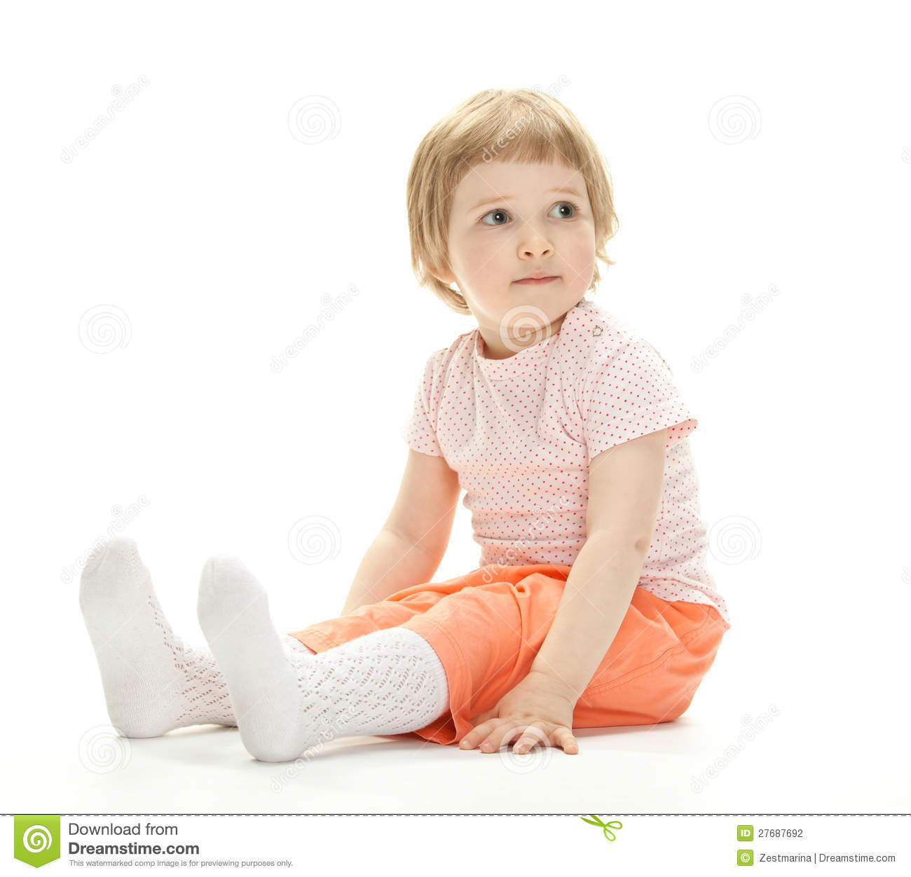 portrait of a child sitting on the floor stock photo image of childhood mood 27687692. Black Bedroom Furniture Sets. Home Design Ideas