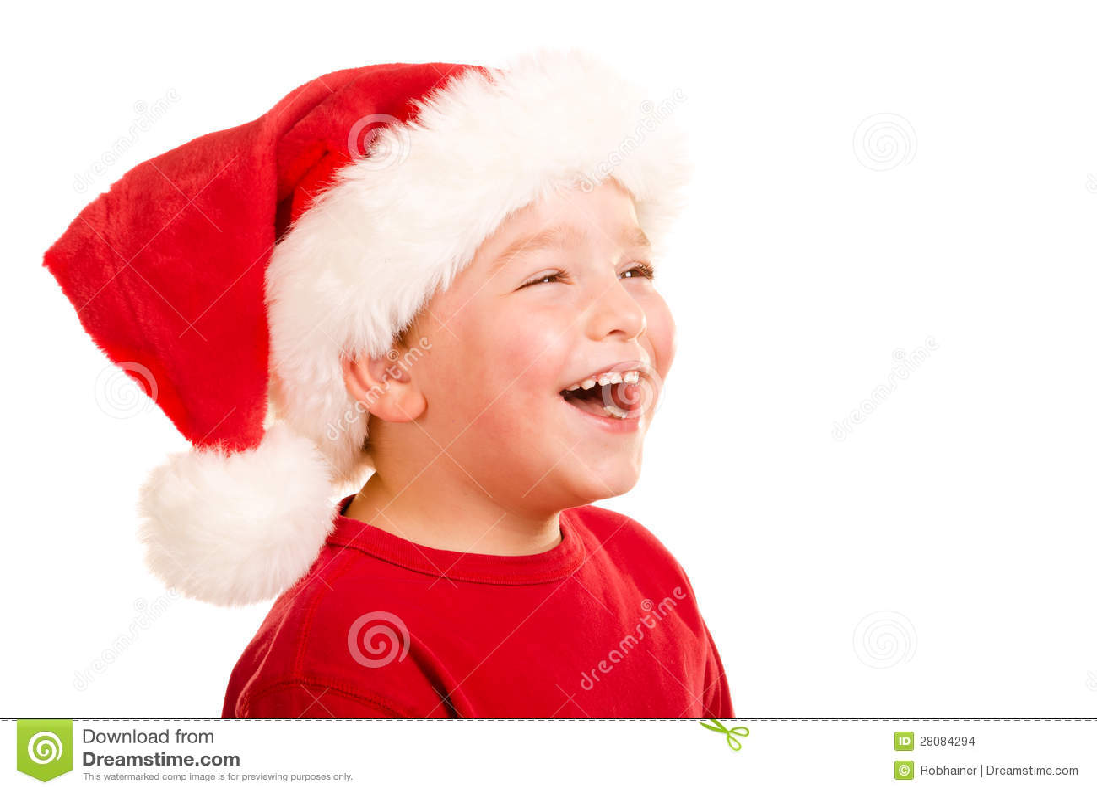 c0b5cbd161b Portrait Of Child Wearing Santa Hat Stock Photo - Image of portrait ...