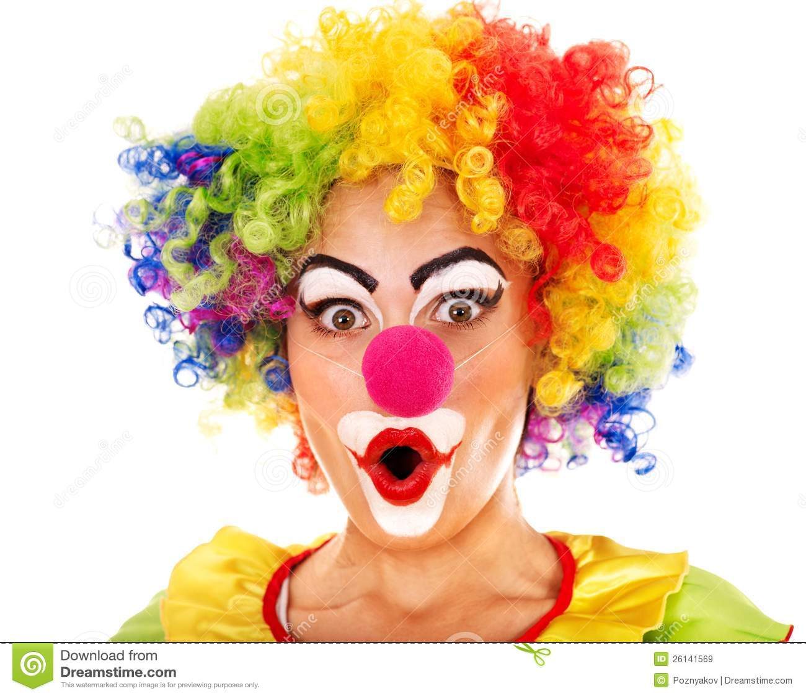portrait of clown royalty free stock images image 26141569. Black Bedroom Furniture Sets. Home Design Ideas