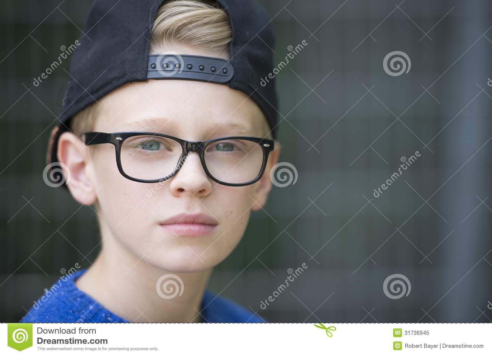 48c7cad64c2e Portrait Confident Teenage Boy With Cap Stock Image - Image of ...