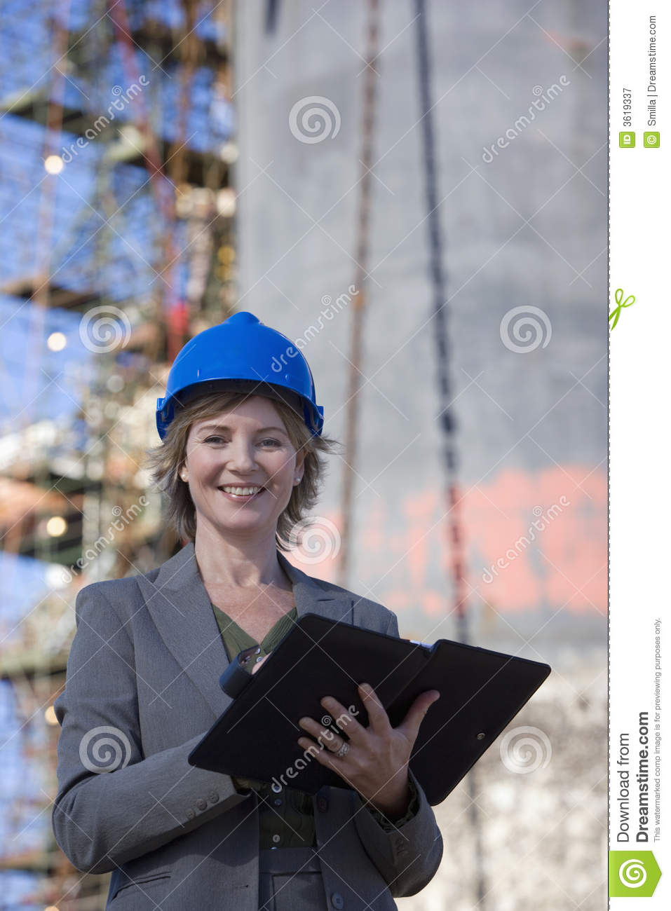 A portrait of a construction engineer