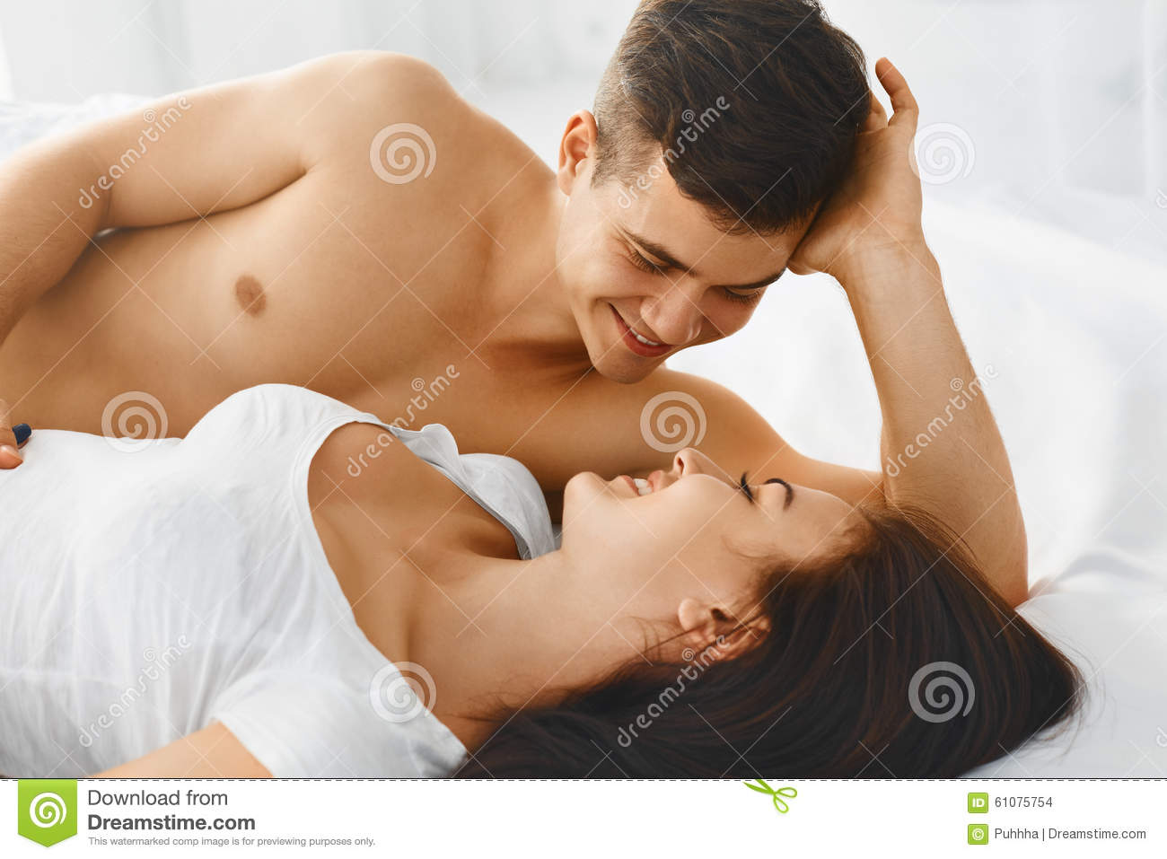 Royalty Free Stock Photo. Portrait Of Couple Loving Each Other  Stock Photo   Image  61075754