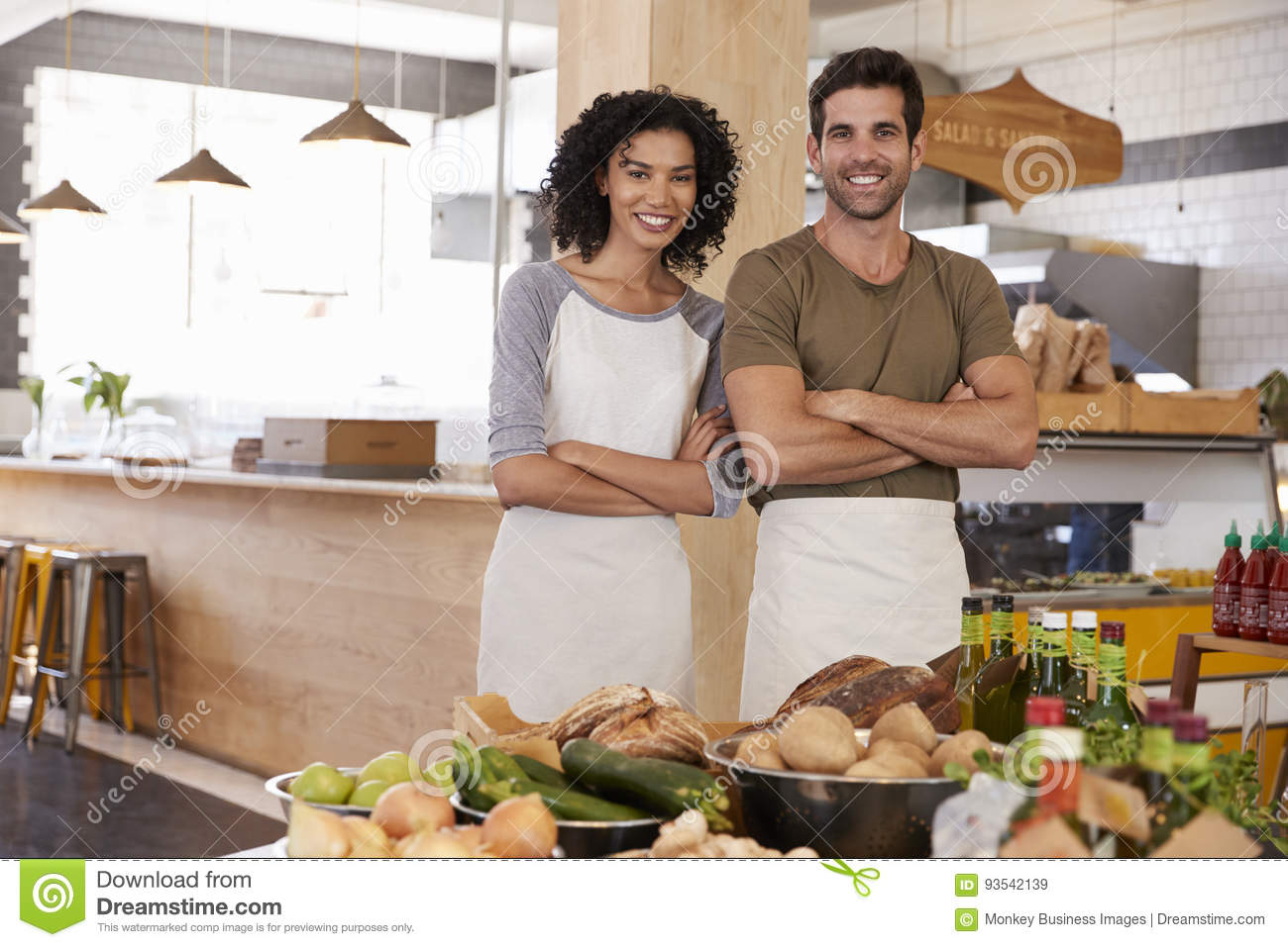 Portrait Of Couple Running Organic Food Store Together