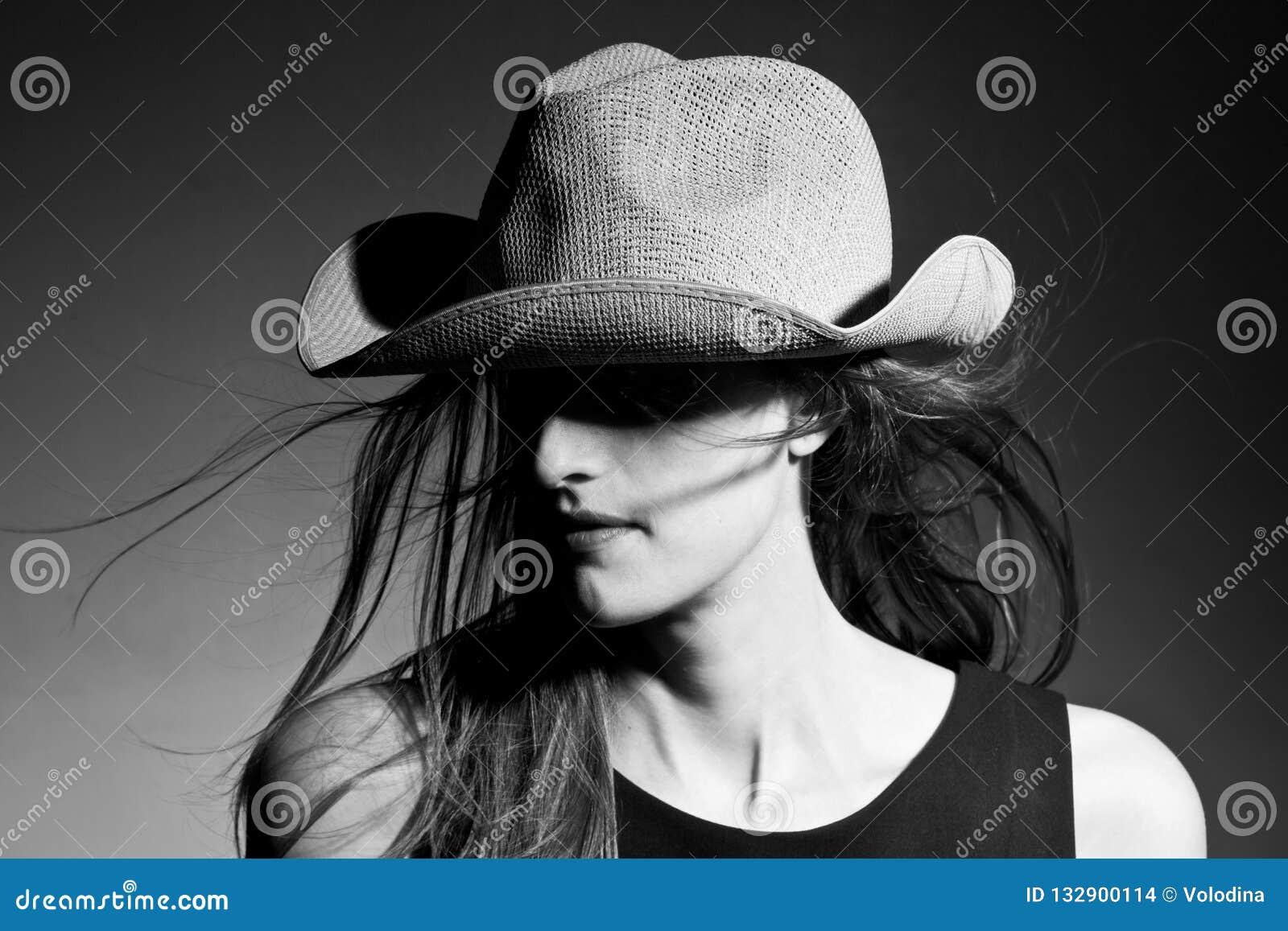 Portrait of cowboy lady stock photo. Image of comfortable - 132900114 cd289a0c275c