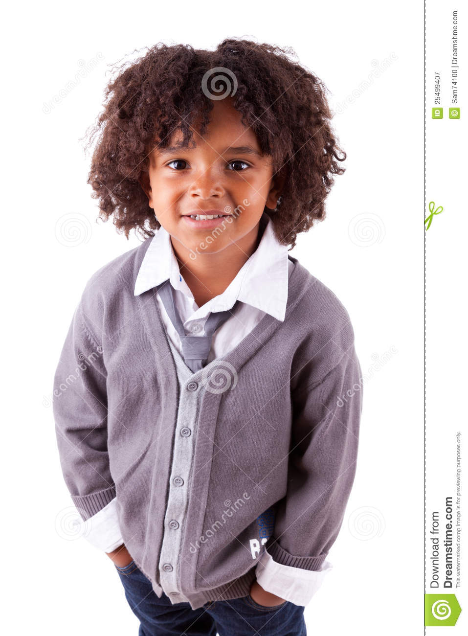 Portrait Of A Cute African American Little Boy Stock Image Image