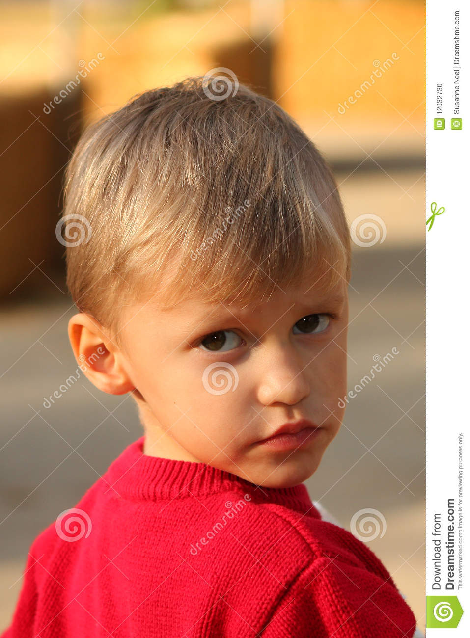 Adorable Four Year Boy With Big Blue Eyes Stock Image: Portrait Of Cute Four Year Old Boy Stock Photo