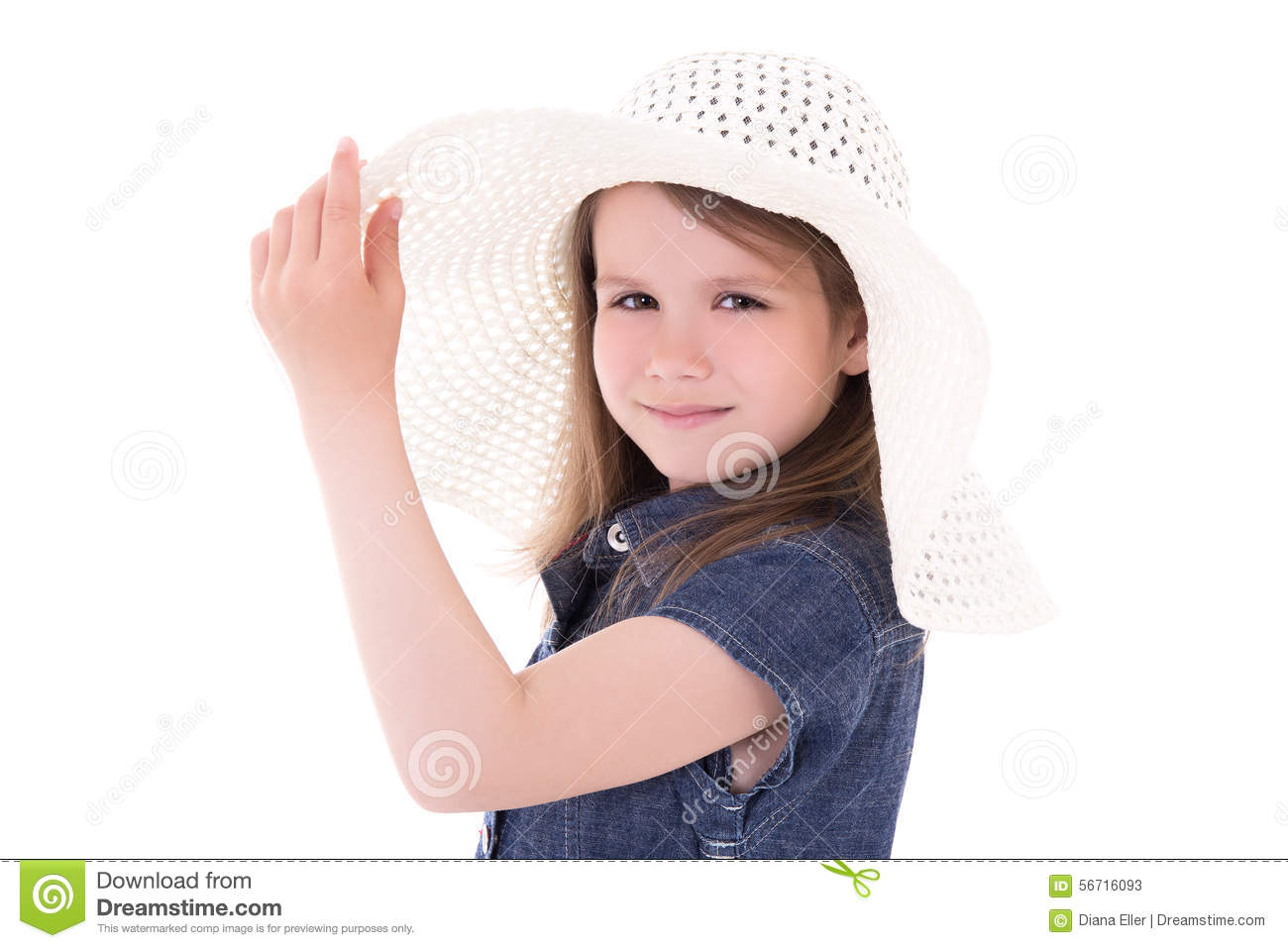 ae06592d240 Portrait Cute Little Girl Big Summer Hat Isolated White Stock Images -  Download 97 Royalty Free Photos