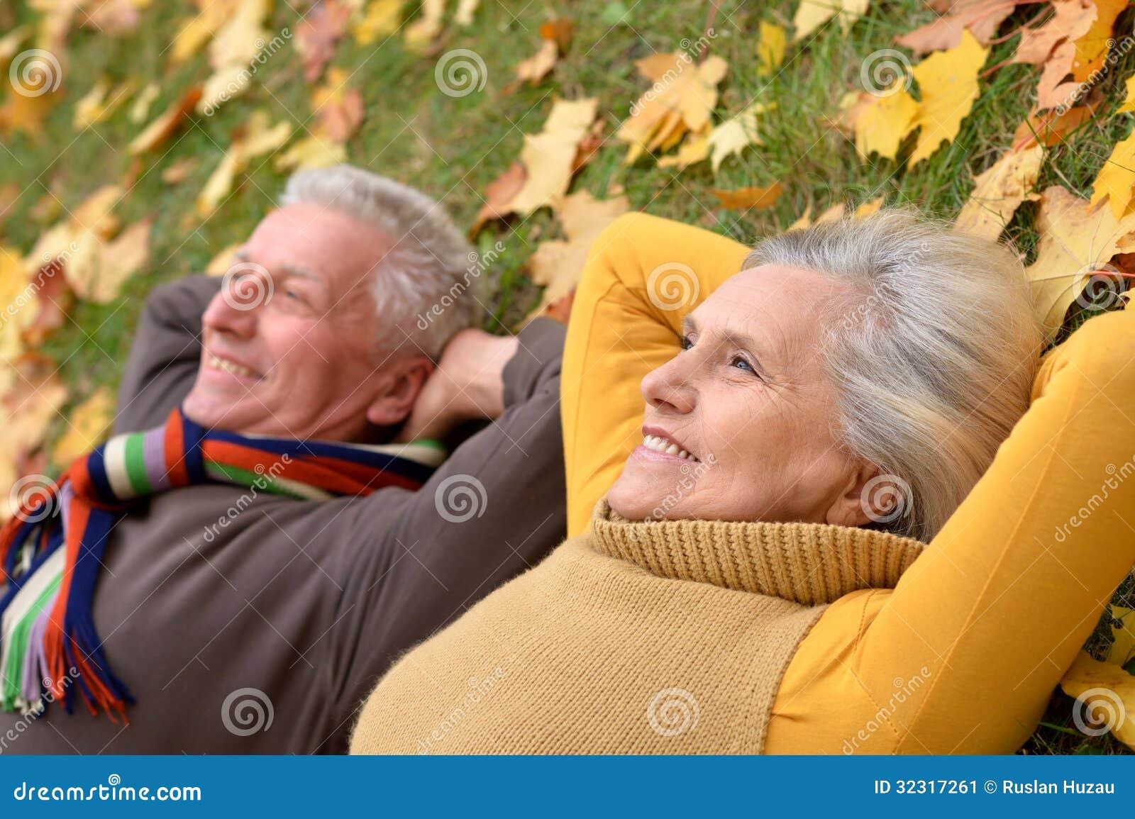 Portrait of a cute older couple