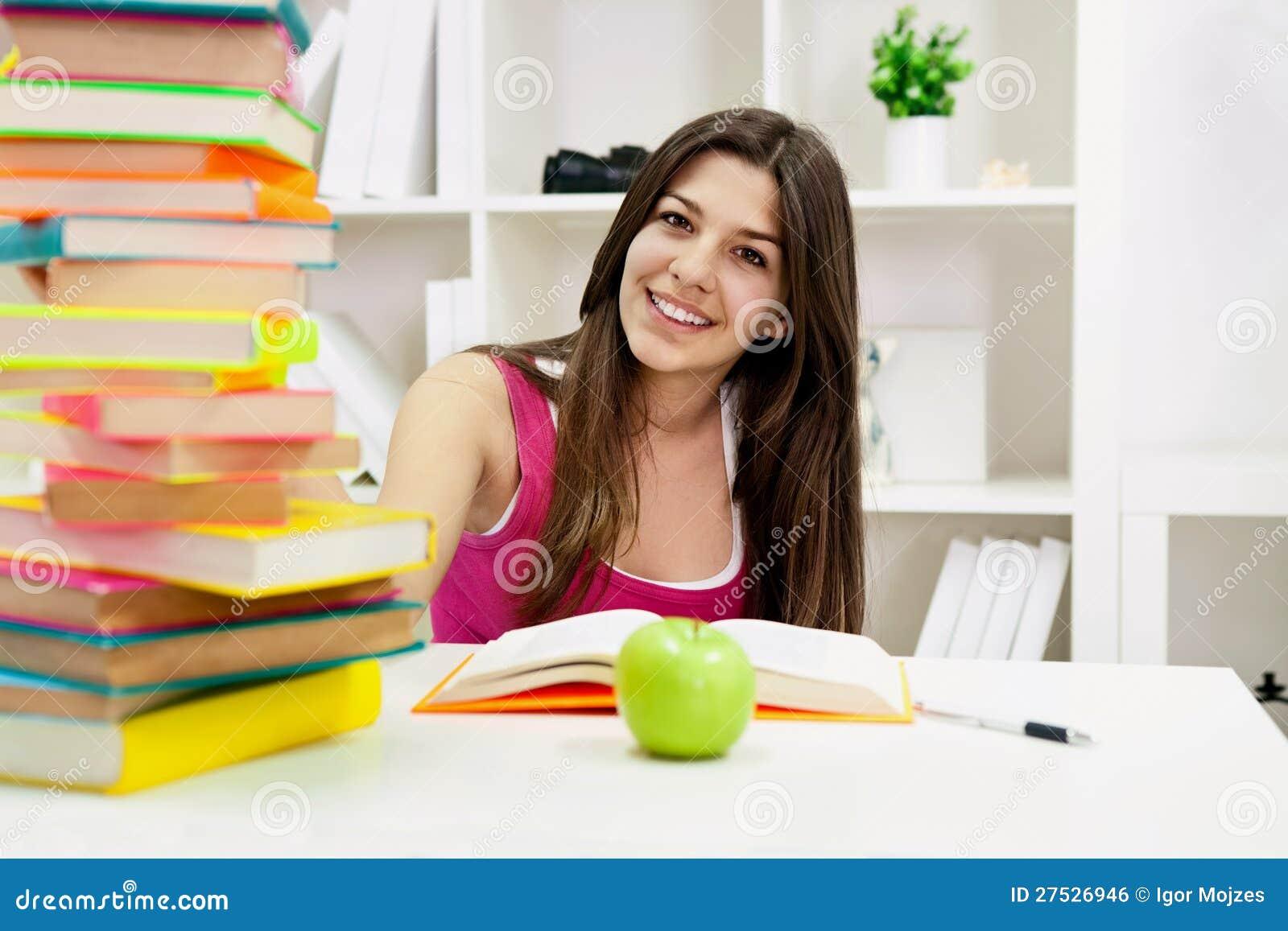 Portrait of cute student