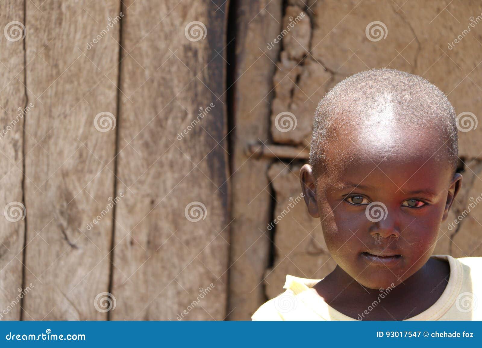 Portrait d enfant de massai