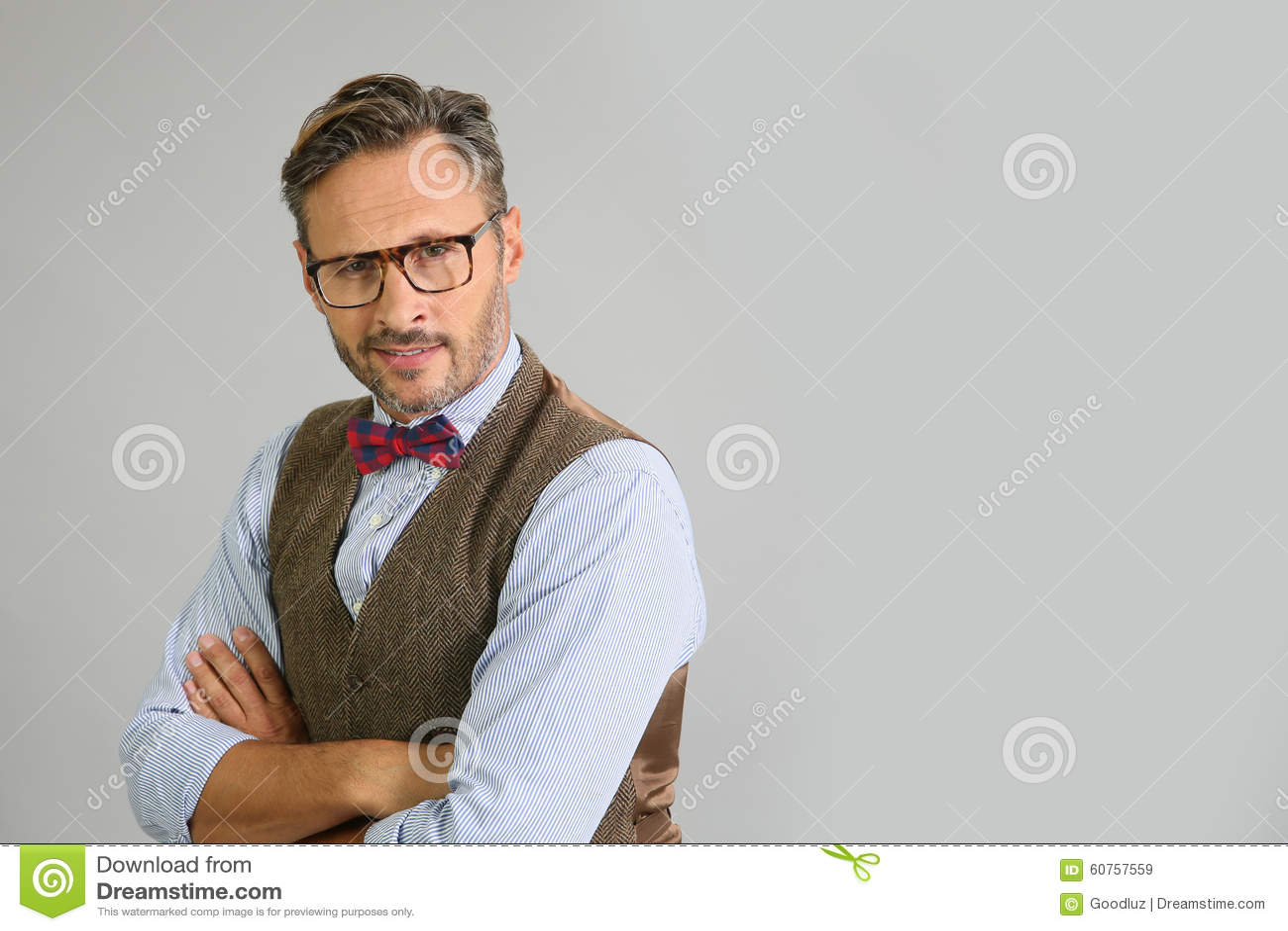 Portrait d homme élégant avec des lunettes