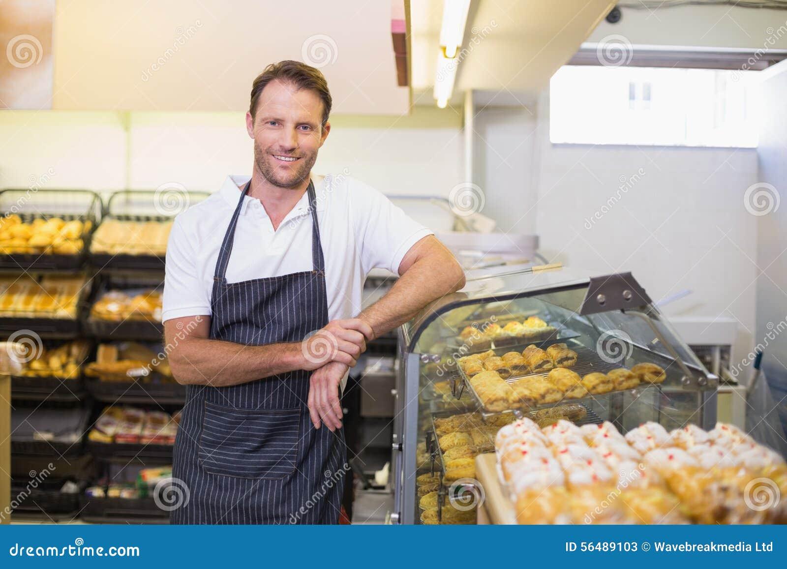 Portrait d un boulanger de sourire