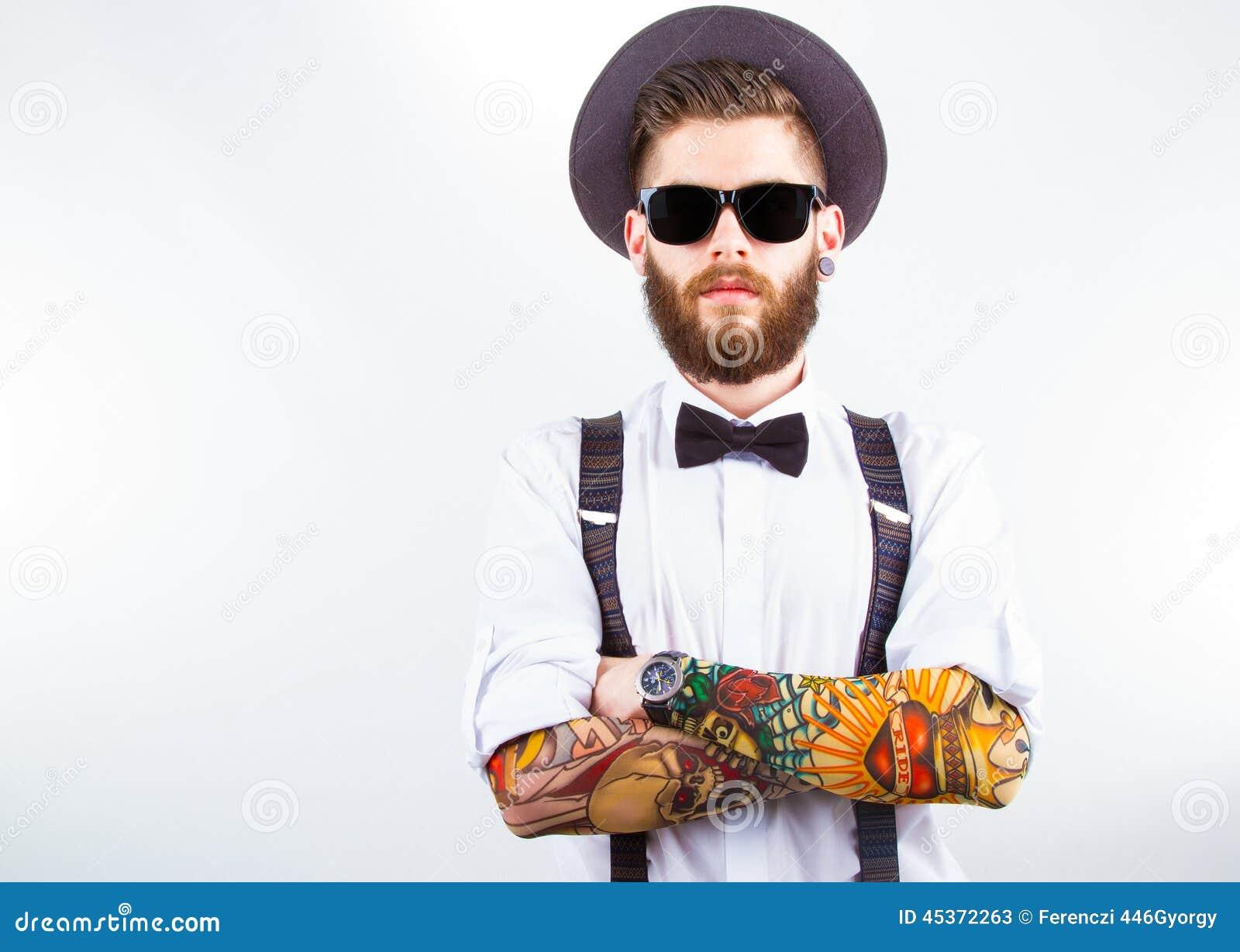 Portrait d un hippie élégant