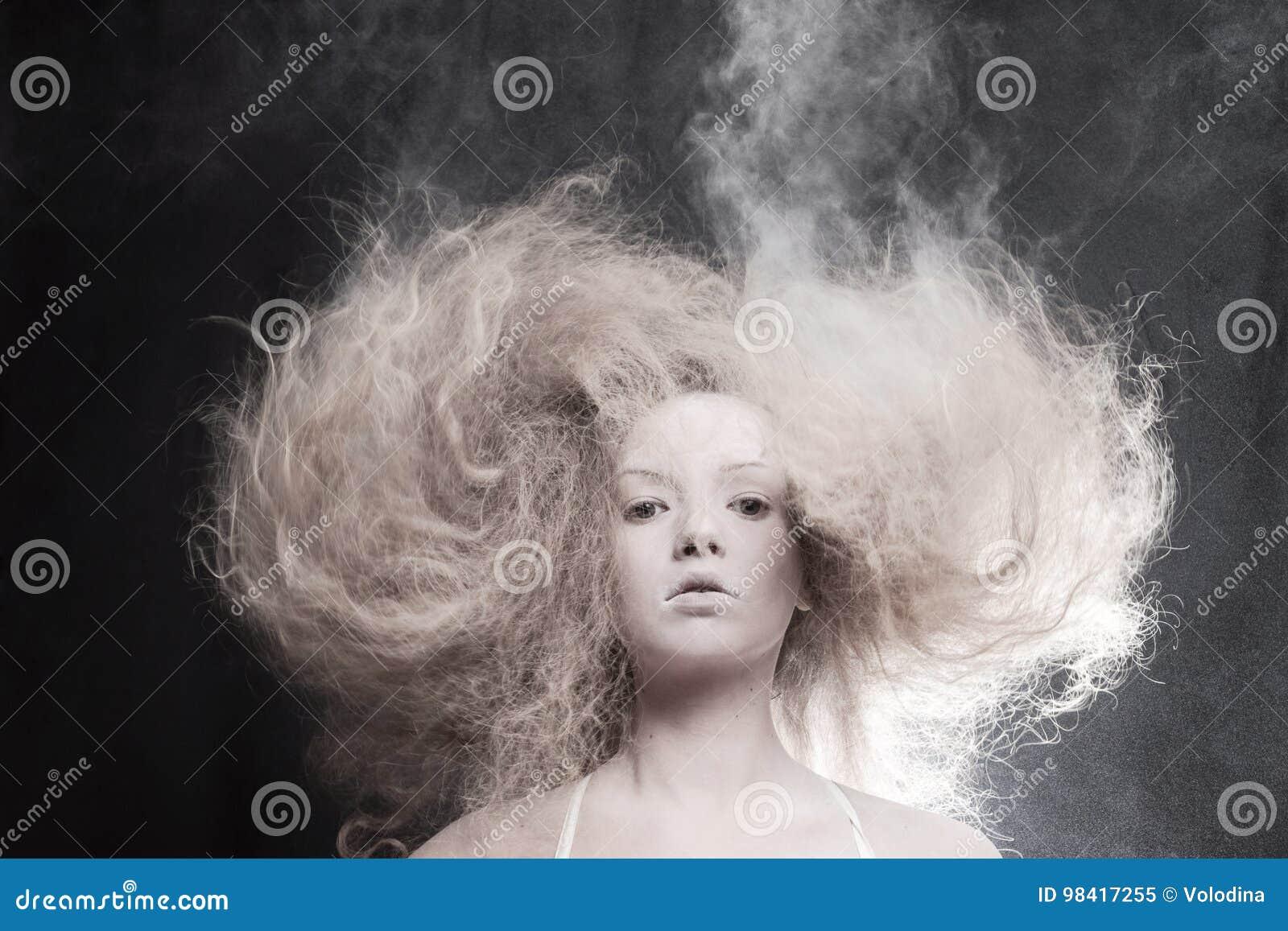 Portrait d une femme pâle