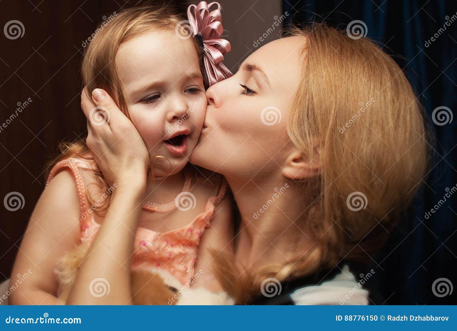 Portrait d une fille et d une mère