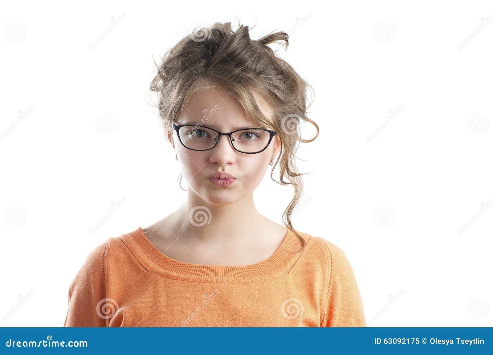 Download Portrait D'une Petite Fille Fâchée Image stock - Image du émotion, exaspéré: 63092175