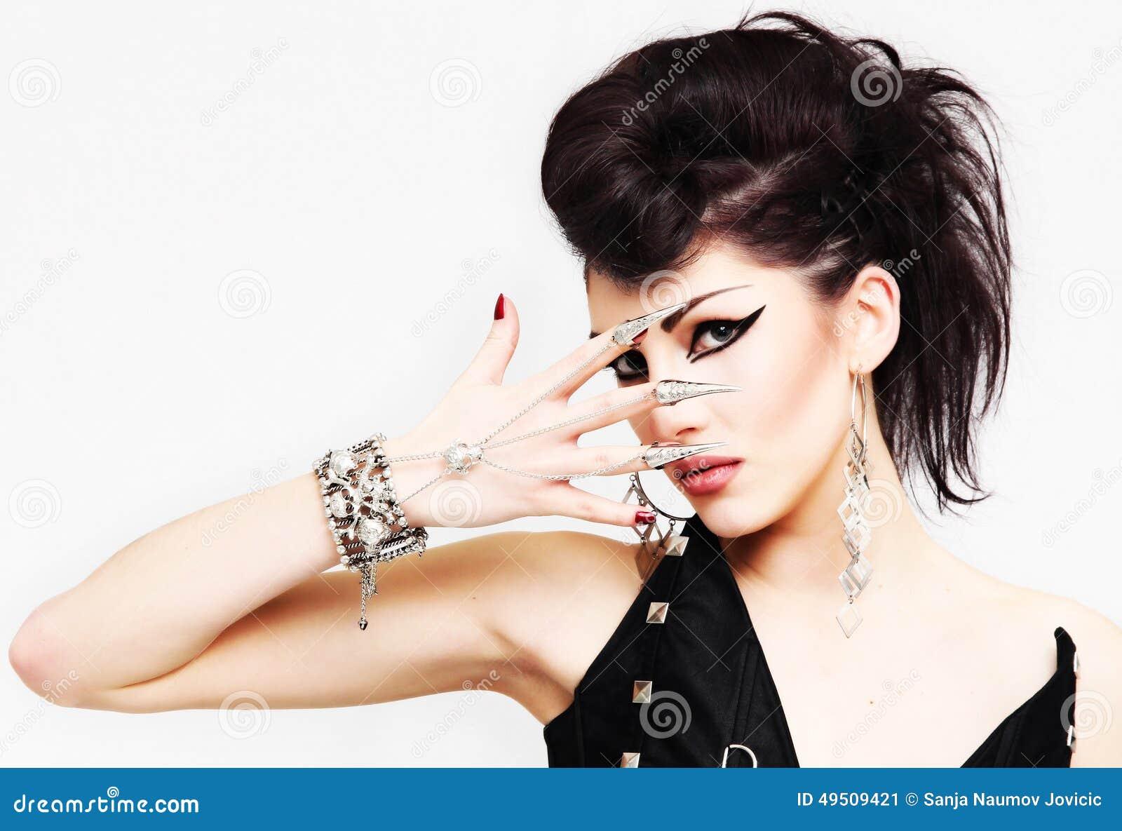 Portrait de fille de style de mode