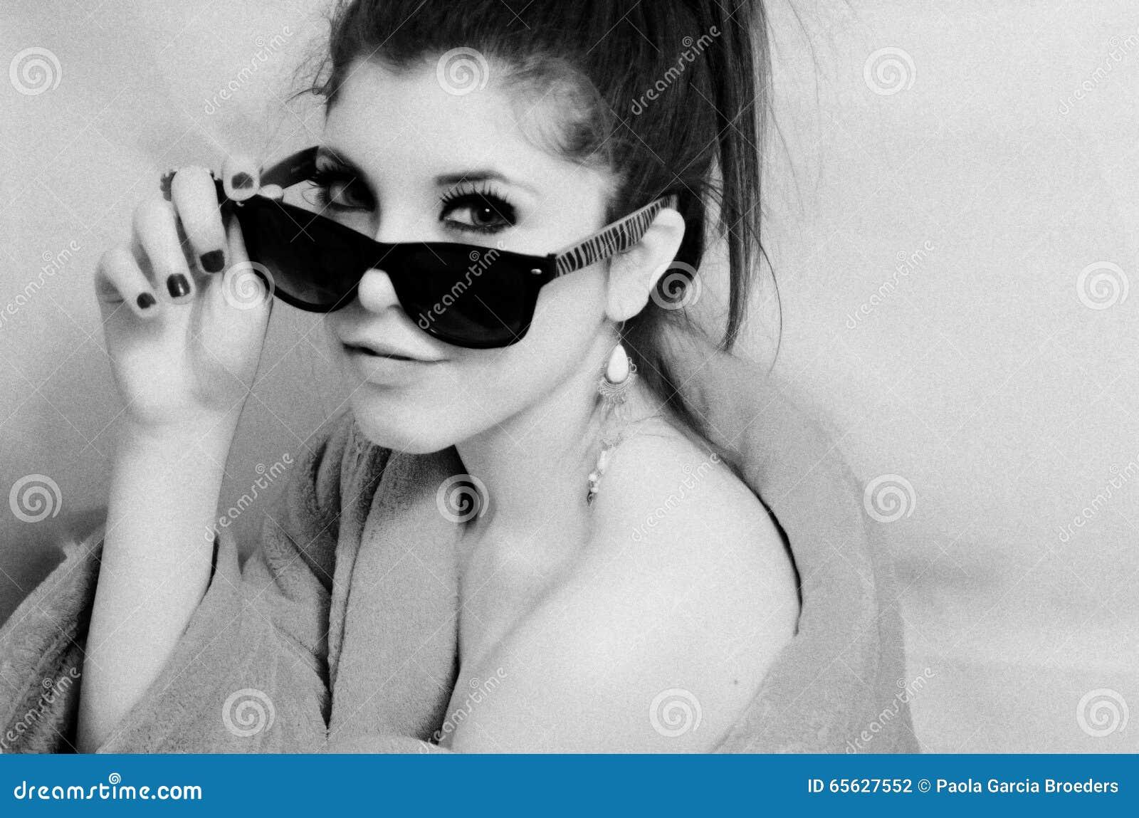Portrait de fille recherchant