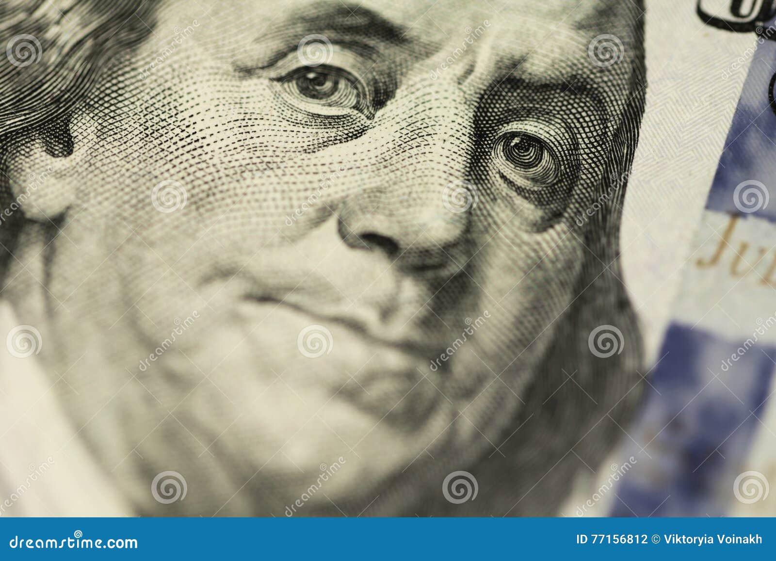 Portrait de Franklin du dollar